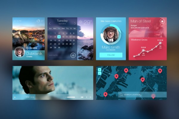 iOS7 inspired UI kit